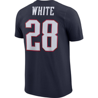 Nike White Name and Number Tee