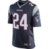 Nike Stephon Gilmore #24 Game Jersey-Navy