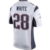 Nike James White #28 Game Jersey-White