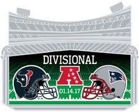 Patriots/Texans Gameday Pin - 2017 Divisional Round