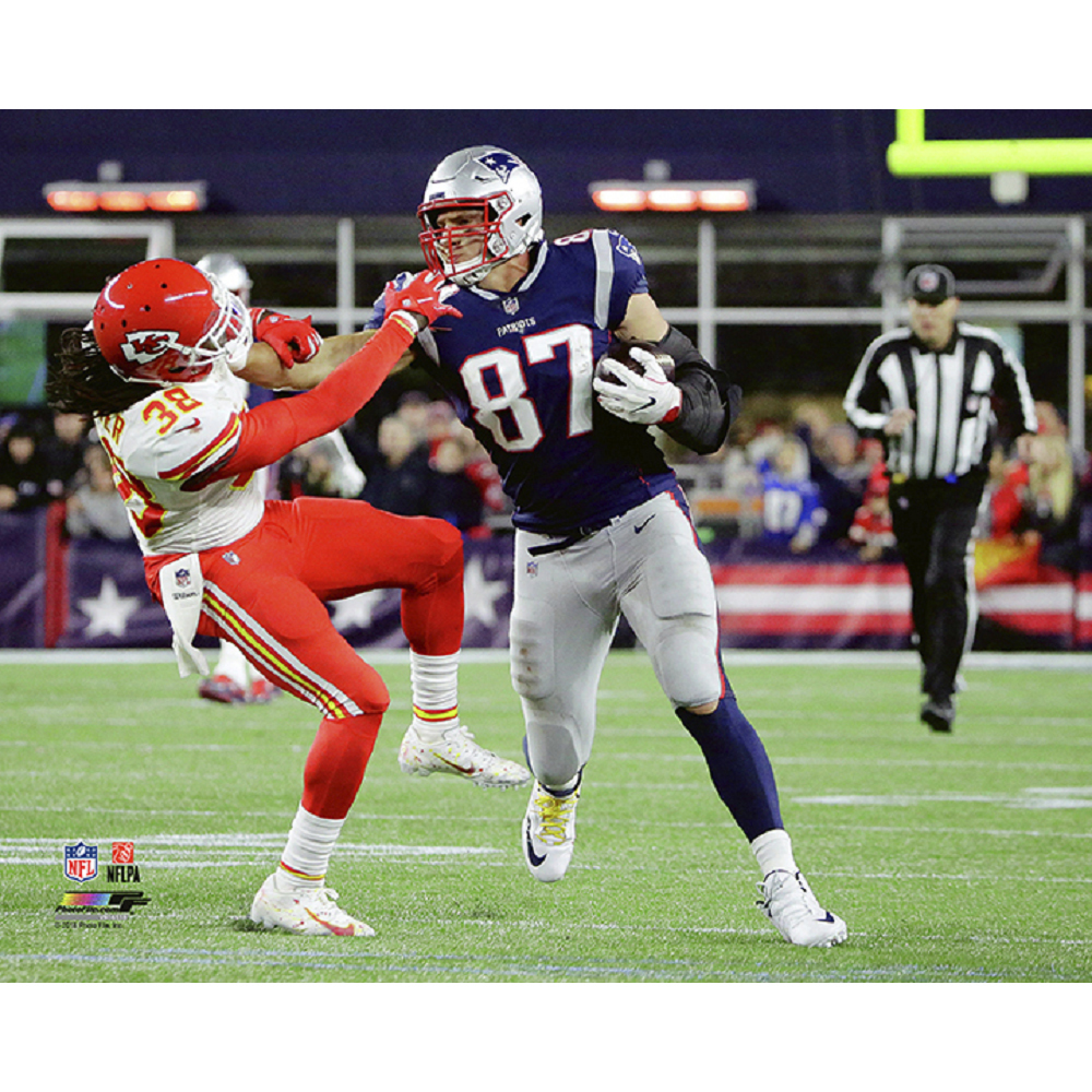 Rob Gronkowski 8x10 Carded Photo