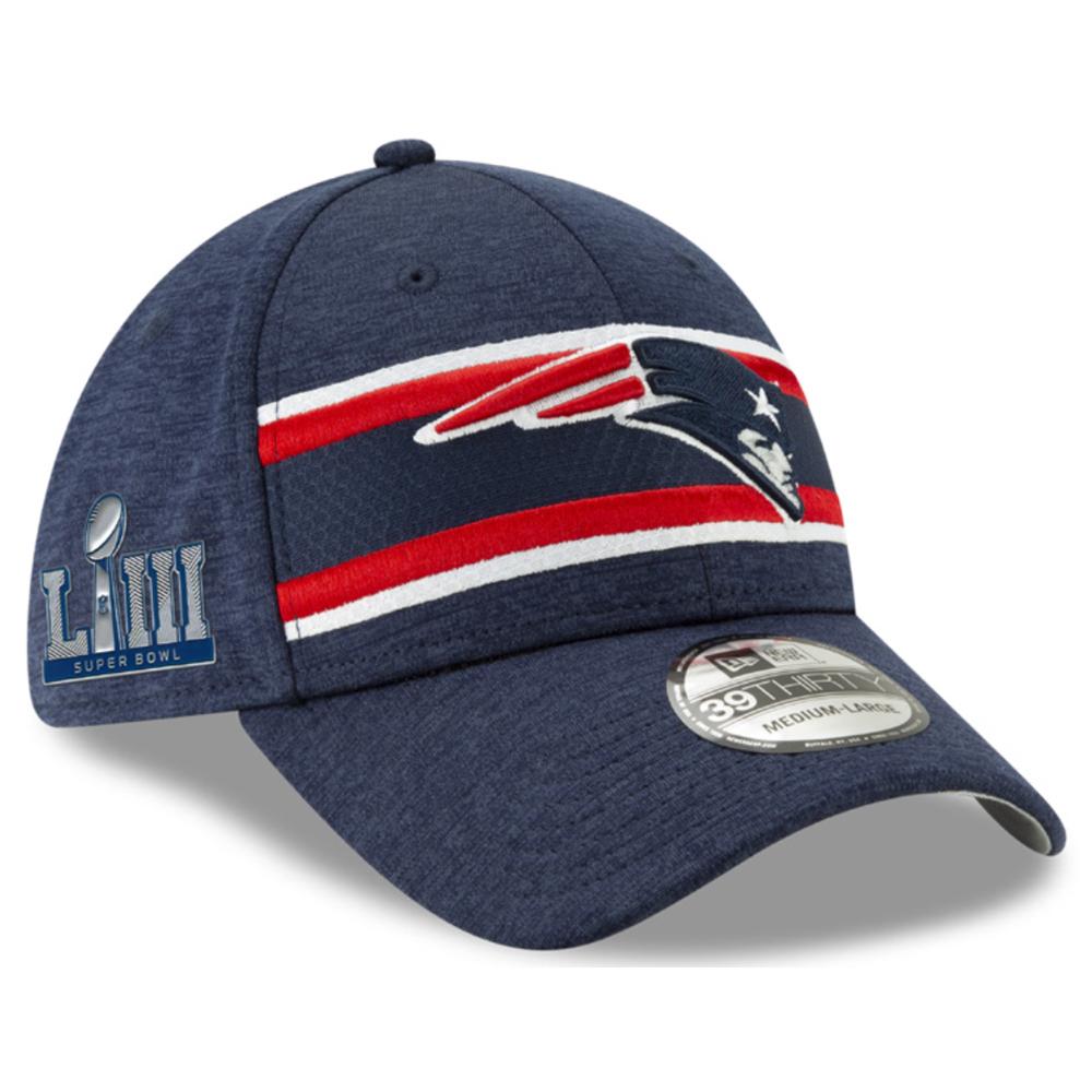 42d67f0949854a New Era Super Bowl LIII Sideline Media Flex Cap - Patriots ProShop