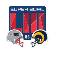 Super Bowl LIII Dueling Logo Pin