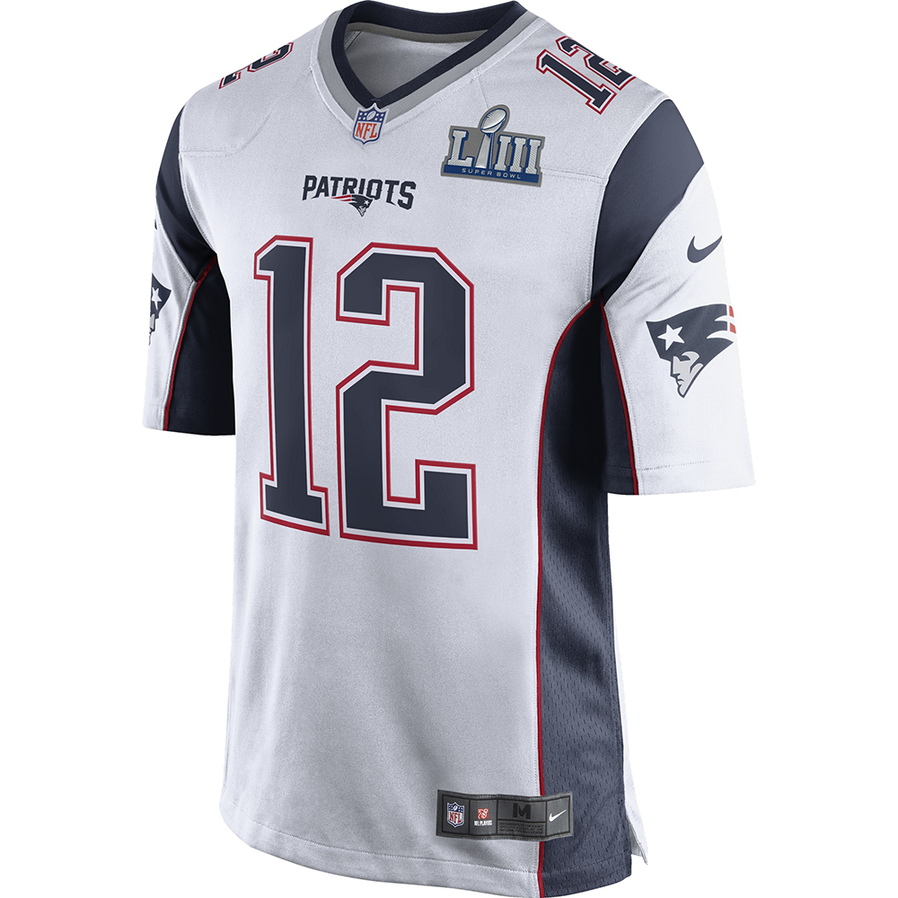 newest 786ad 91907 Nike Tom Brady SB53 Game Jersey-White