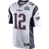 Nike Tom Brady SB53 Game Jersey-White
