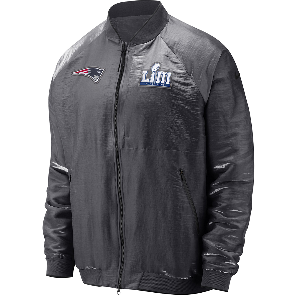 f921f97e Nike Super Bowl LIII Media Night Bomber Jacket - Patriots ProShop