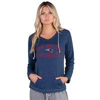Ladies Lightweight Hooded Top-Navy