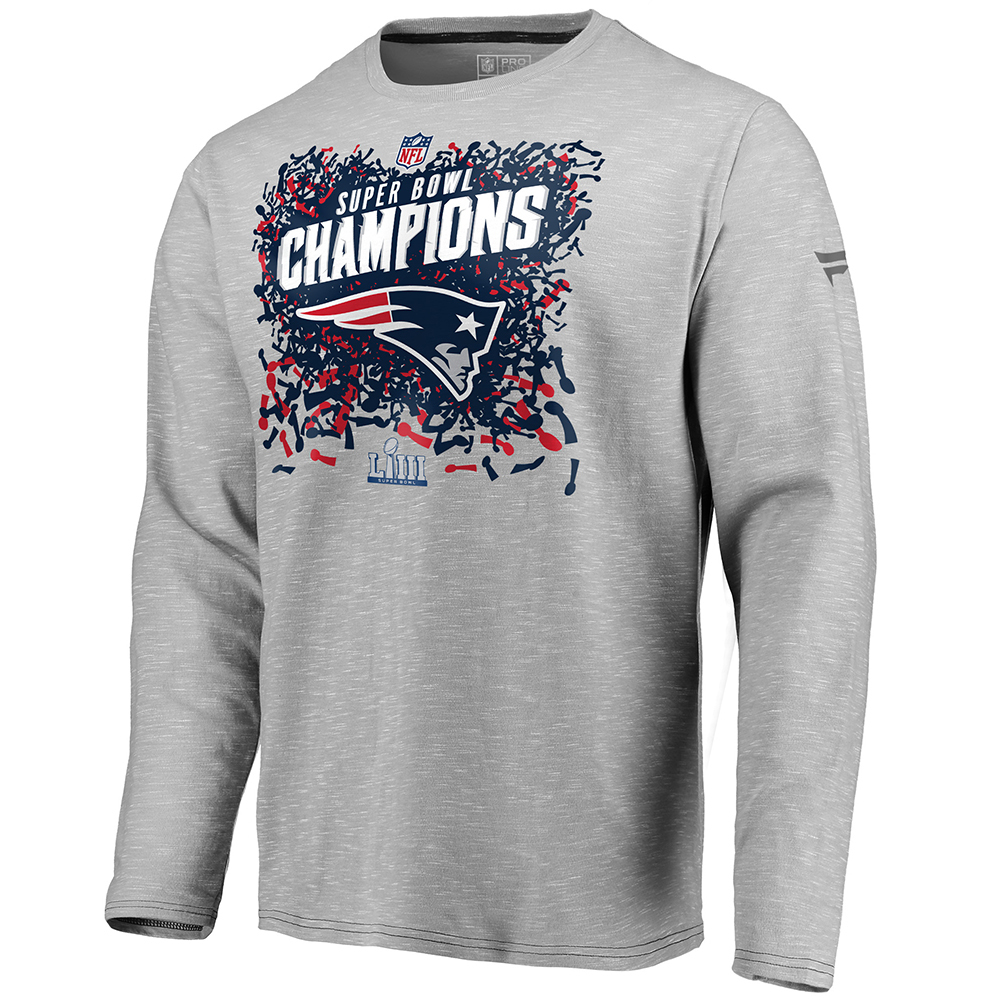 4c26161af Super Bowl LIII Champions Long Sleeve Tee - Patriots ProShop