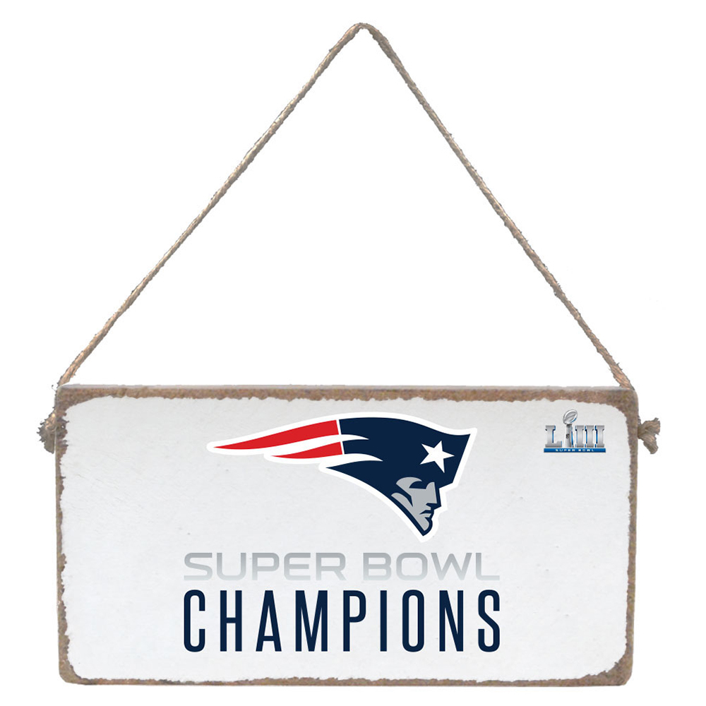 Super Bowl LIII Champions Rustic Marlin Mini Plank