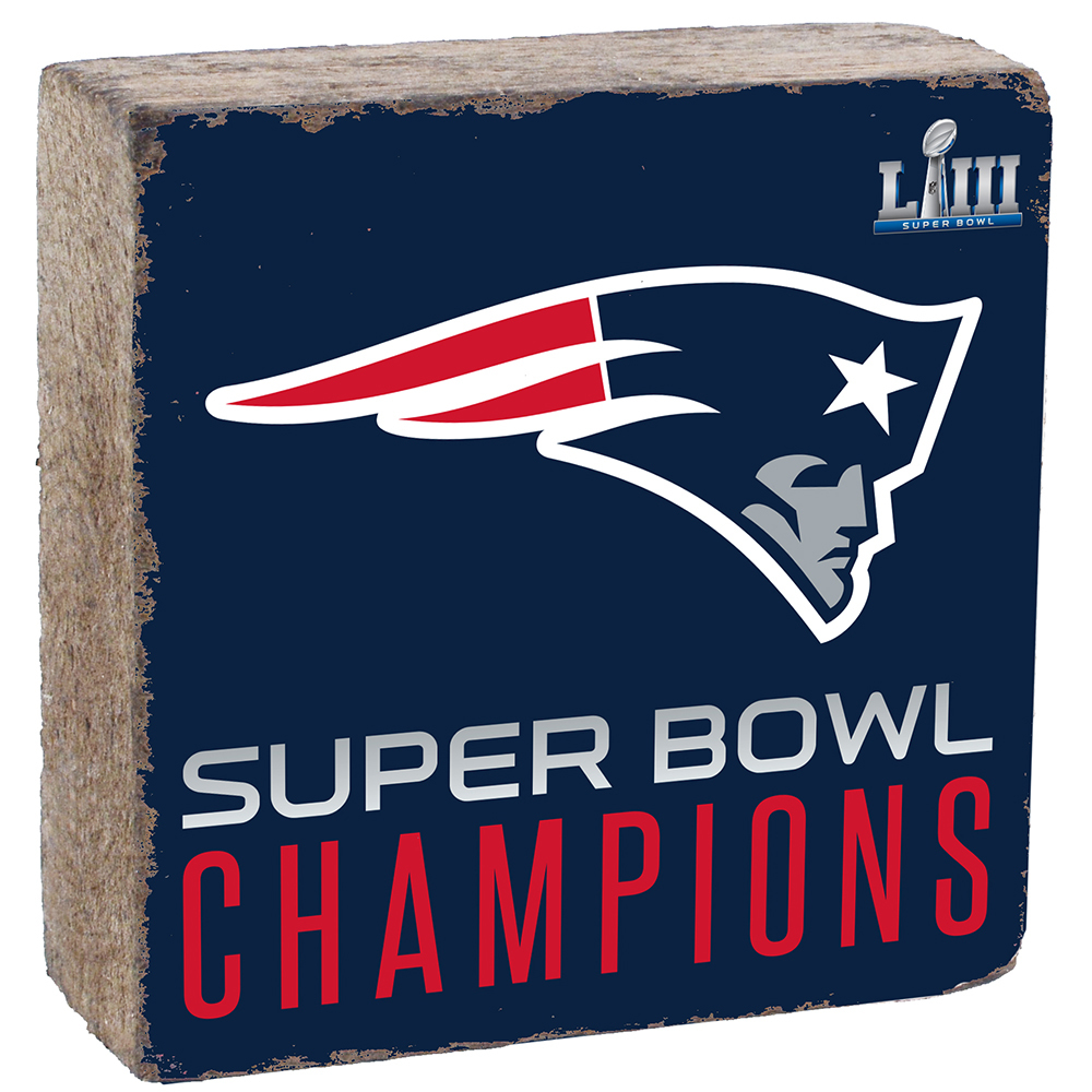 Super Bowl LIII Champions Rustic Marlin Block - Navy