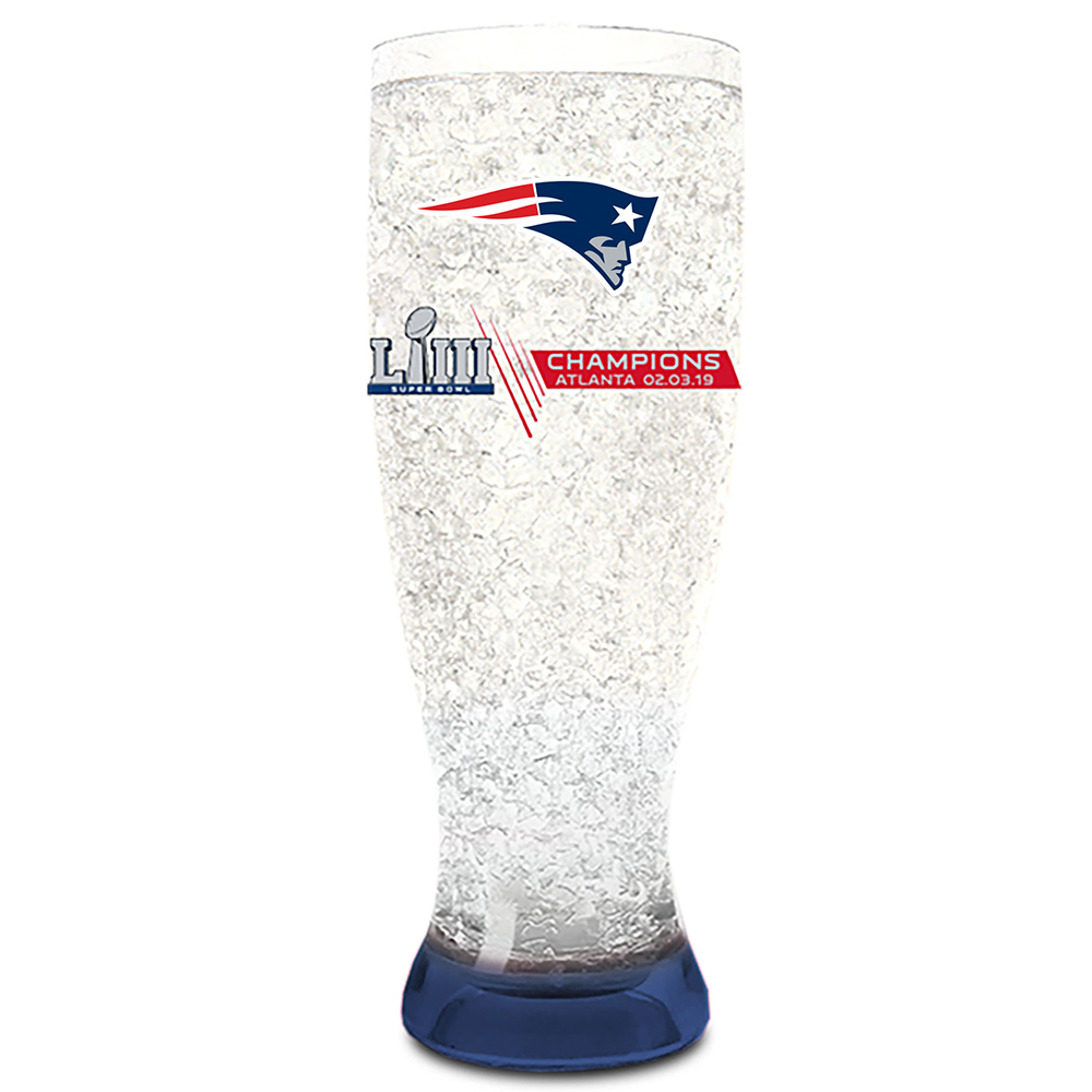 Super Bowl LIII Champions Freeze Pilsner Glass
