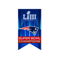 Super Bowl LIII Champions Banner Pin
