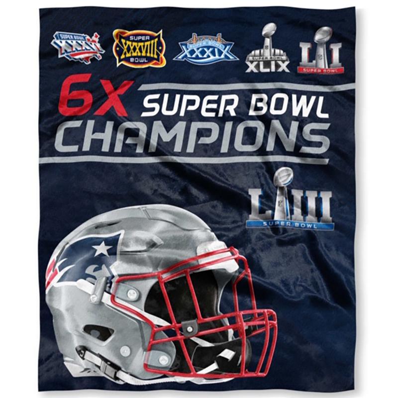 6x champs silk plush throw blanket patriots proshop - Patriots super bowl champs wallpaper ...