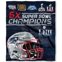 6X Champs Silk Plush Throw Blanket
