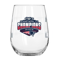 Super Bowl LIII Champions Stemless Wine Glass