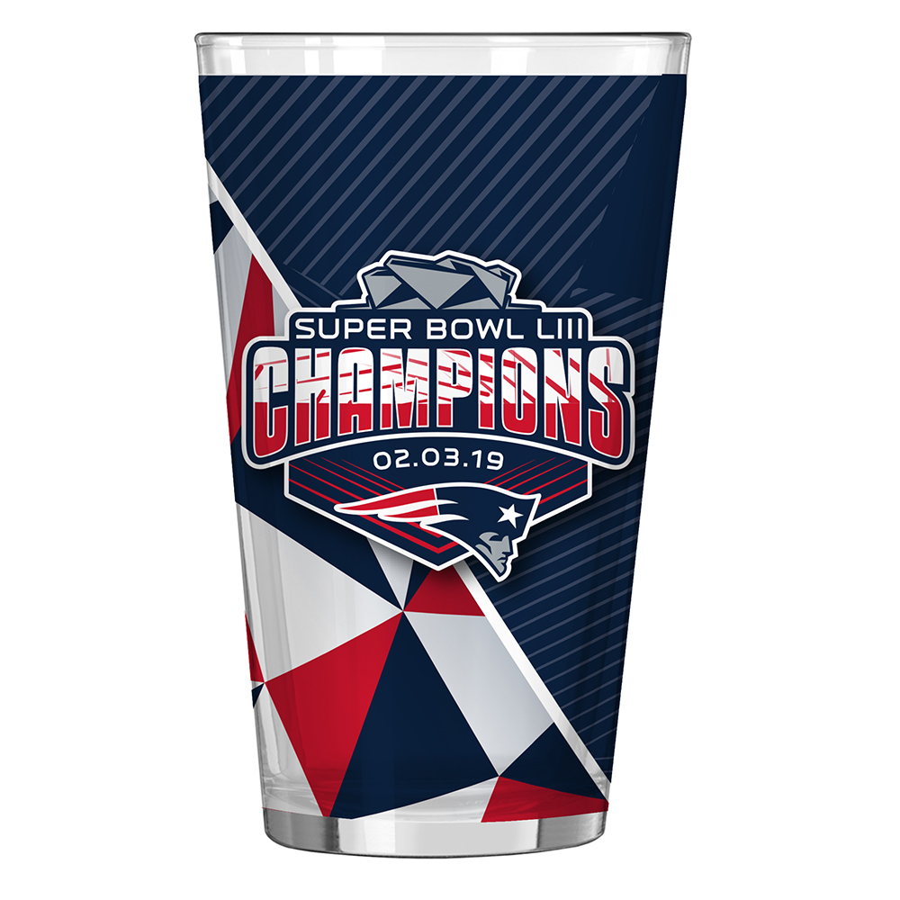 Super Bowl LIII Champions Sublimated Pint Glass