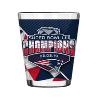 Super Bowl LIII Champions Sublimated Shot Glass