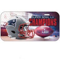 Super Bowl LIII Champions Plastic License Plate
