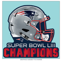 Super Bowl LIII Champions Perfect Cut Decal 8x8