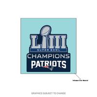 Super Bowl LIII Champions Perfect Cut Decal 4x4