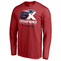 6X Champions Long Sleeve Tee-Red