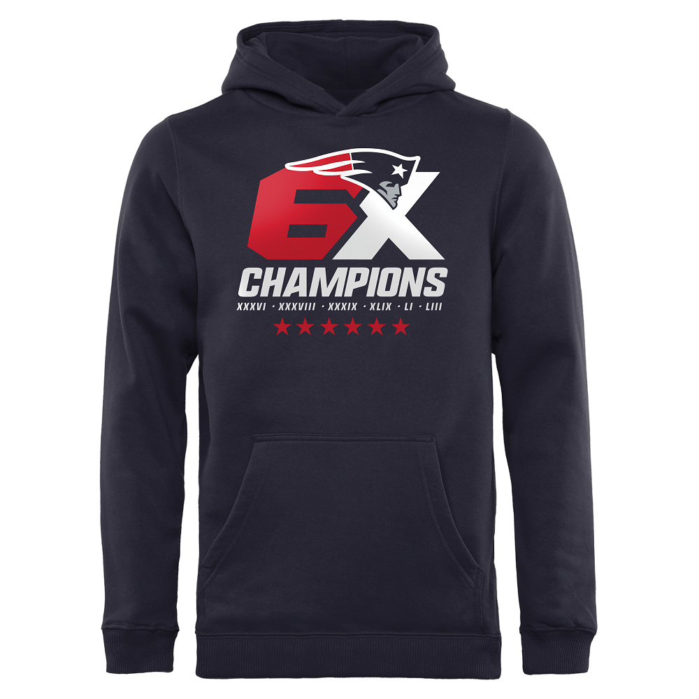 Youth 6X Champions Hood-Navy