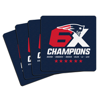 6X Champs Neoprene Coaster Set