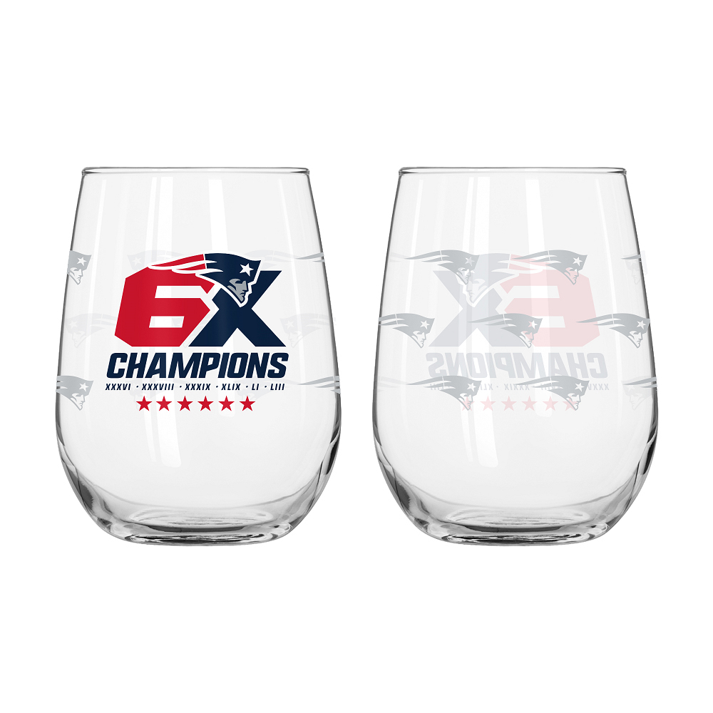 6X Champions Stemless Wine Glass
