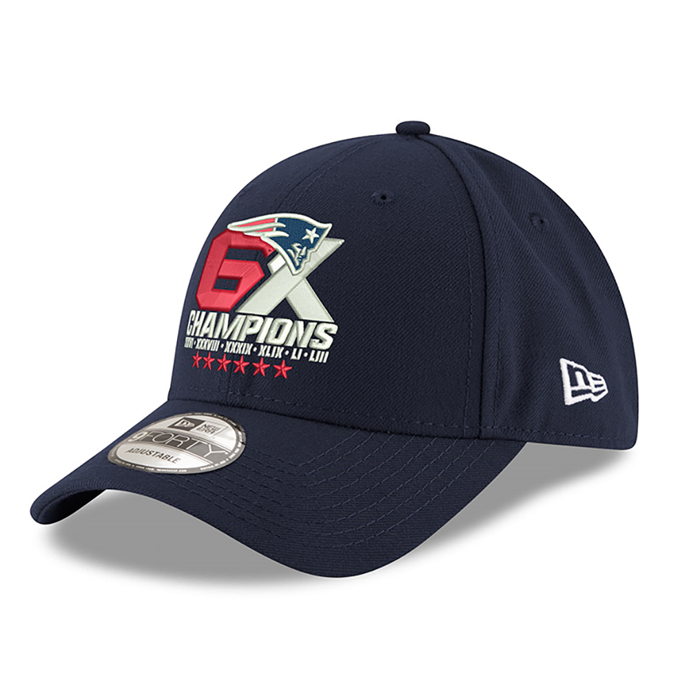ba36067f6d6 New Era 6X Champions 9Forty Cap - Patriots ProShop