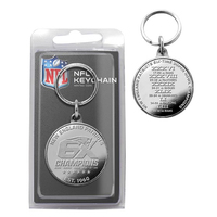 6X Champs Silver Coin Keychain