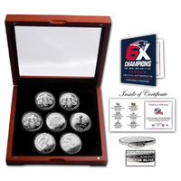 6X Champs 6 Coins in Box
