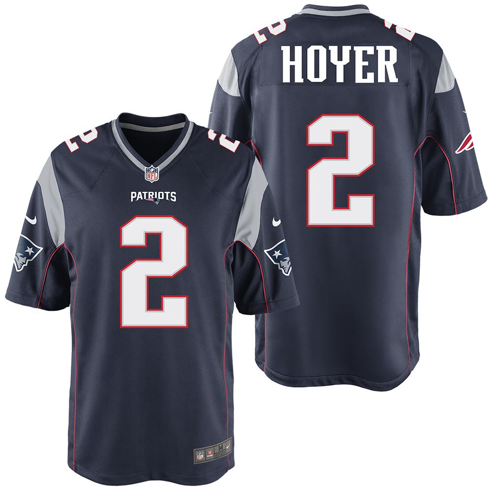 eeb639c92ec Nike Brian Hoyer  2 Game Jersey-Navy - Patriots ProShop