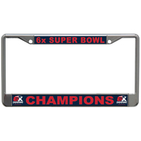 6X Champions Metal License Plate Frame