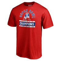 6X Champs Throwback Tee-Red
