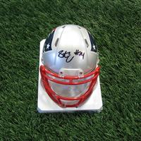 Autographed Stephon Gilmore Mini Helmet w/Case