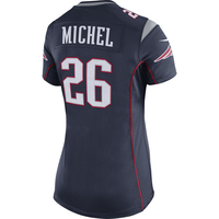 Ladies Nike Sony Michel Game Jersey-Navy