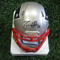 Autographed Dont'a Hightower Mini Helmet w/Case