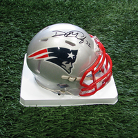 Autographed Devin McCourty Mini Helmet w/ Case