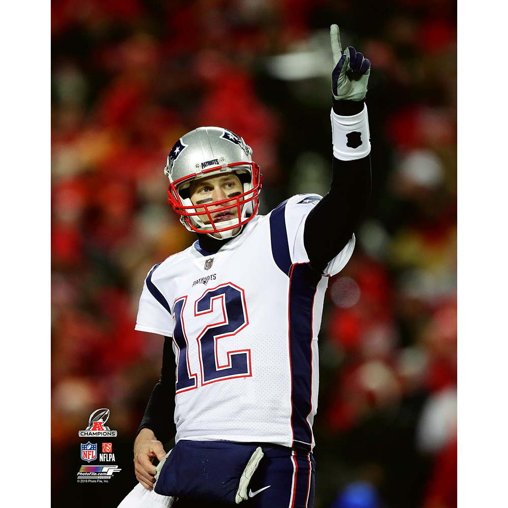 Tom Brady #1 8x10 Carded Photo