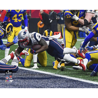 Sony Michel Touchdown 8x10 Carded Photo