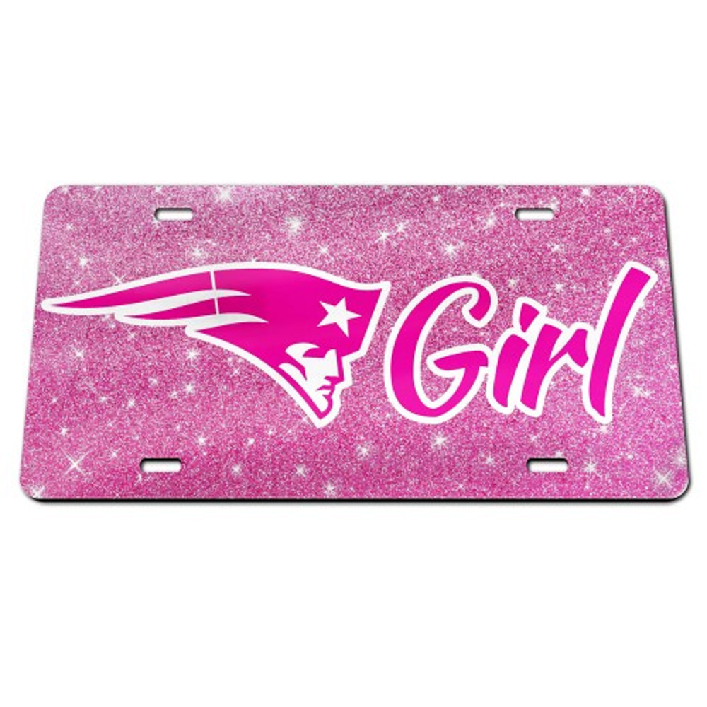 Patriot Girl Glitter License Plate