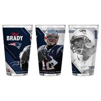 Tom Brady Sublimated Pint Glass