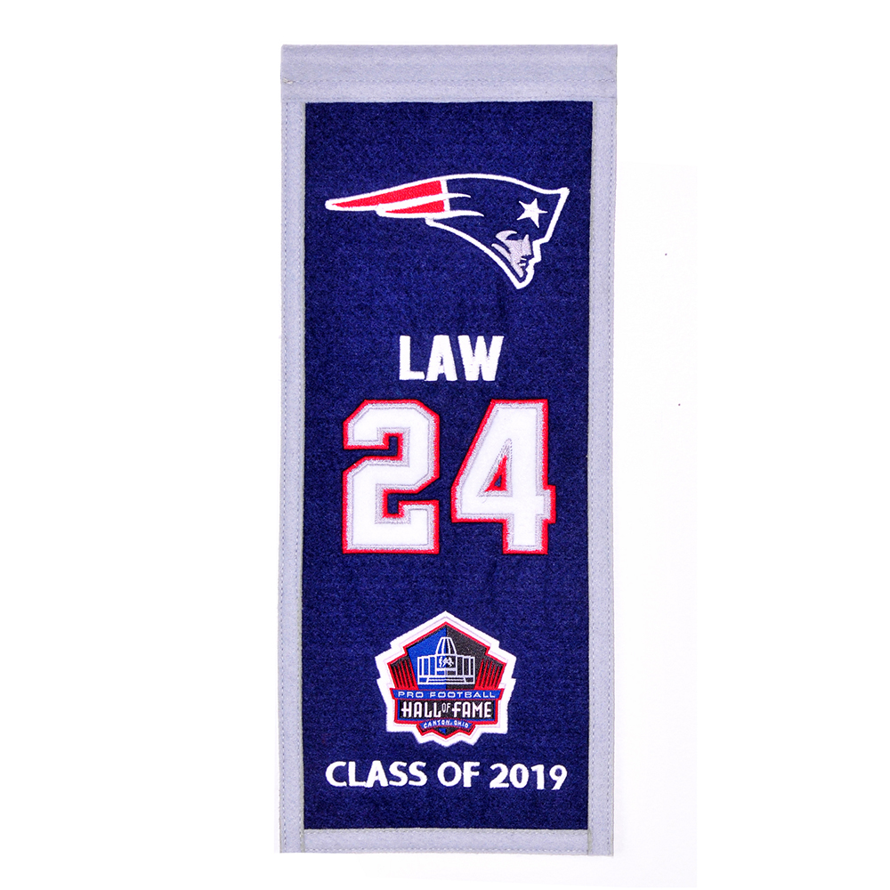 Ty Law Hall of Fame Mini Banner