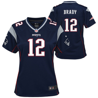 Girls Nike Tom Brady Game Jersey-Navy