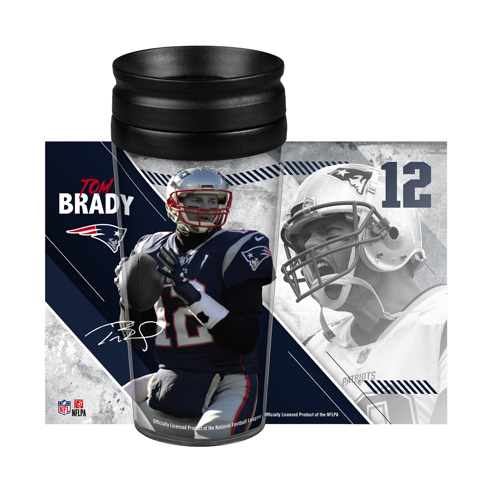 Tom Brady Wrap Travel Tumbler