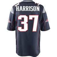 Nike Rodney Harrison #37 Game Jersey-Navy