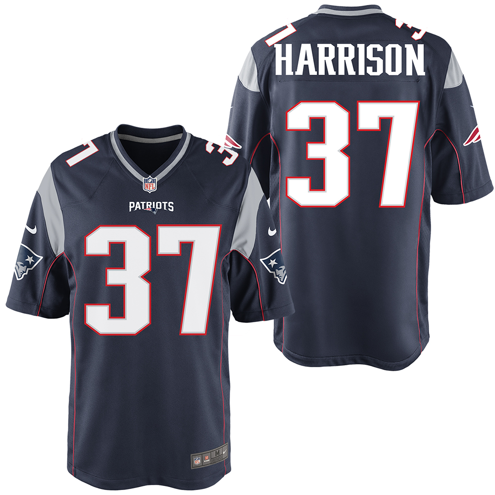 the latest d4105 f815f Nike Rodney Harrison #37 Game Jersey-Navy - Patriots ProShop