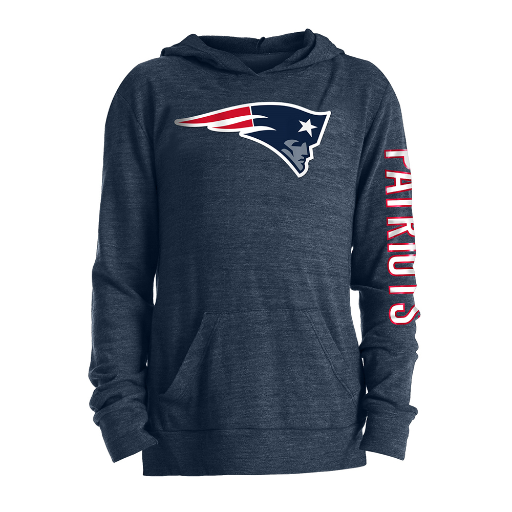Girls TriBlend Hooded Long Sleeve Tee