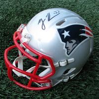 Autographed Rodney Harrison Mini Helmet