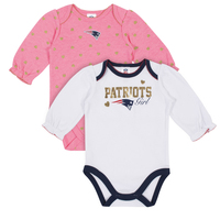 Girls Newborn Long Sleeve Bodysuits 2pk